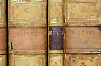 History showing old books