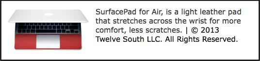 Twelve South SurfacePad for Air