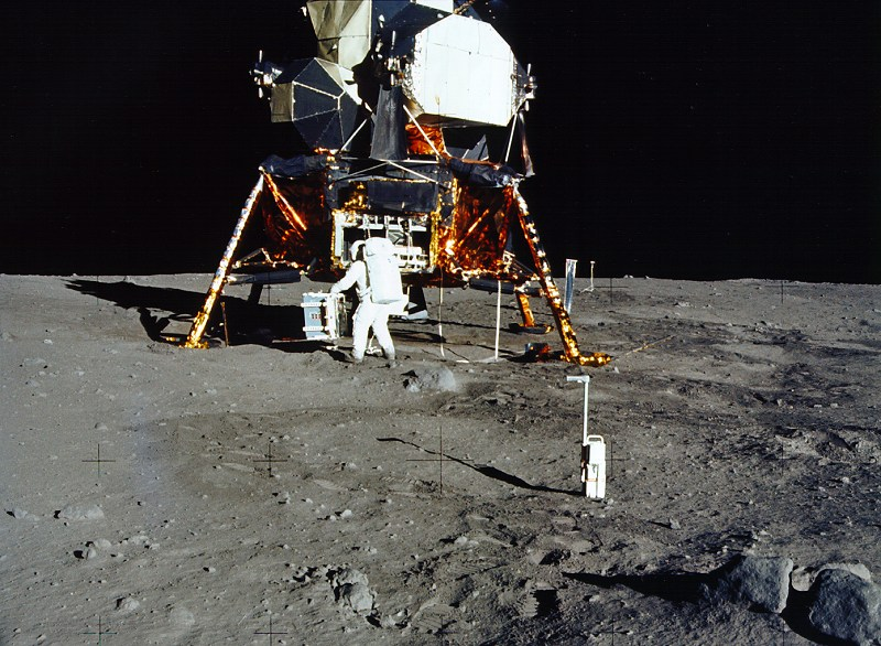 Apollo 11 Makes the First Moon Landing