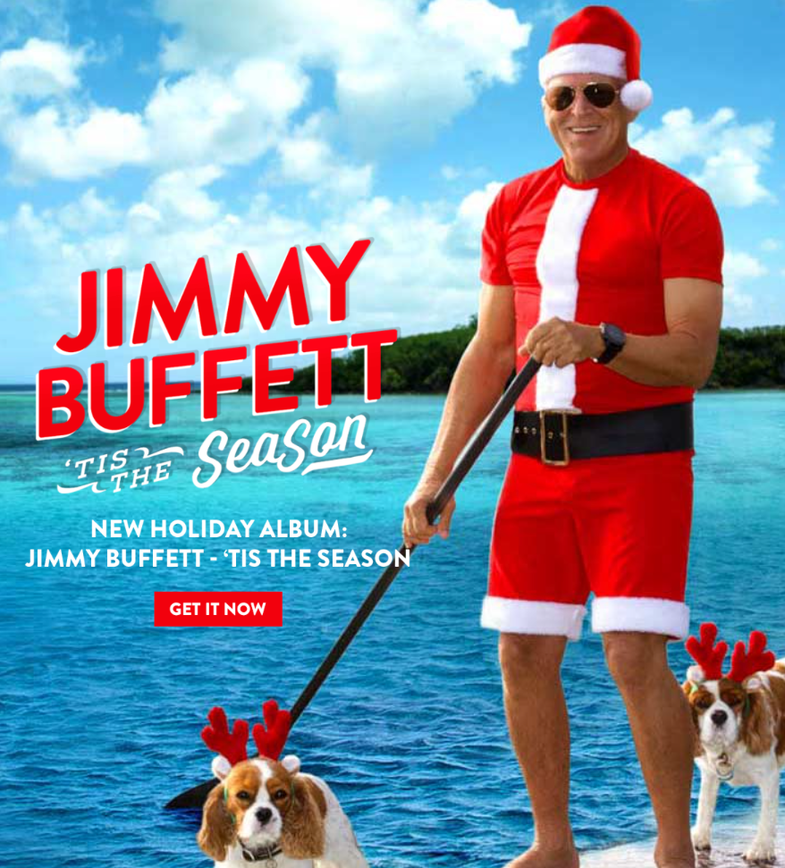 jimmy buffett in christmas garb