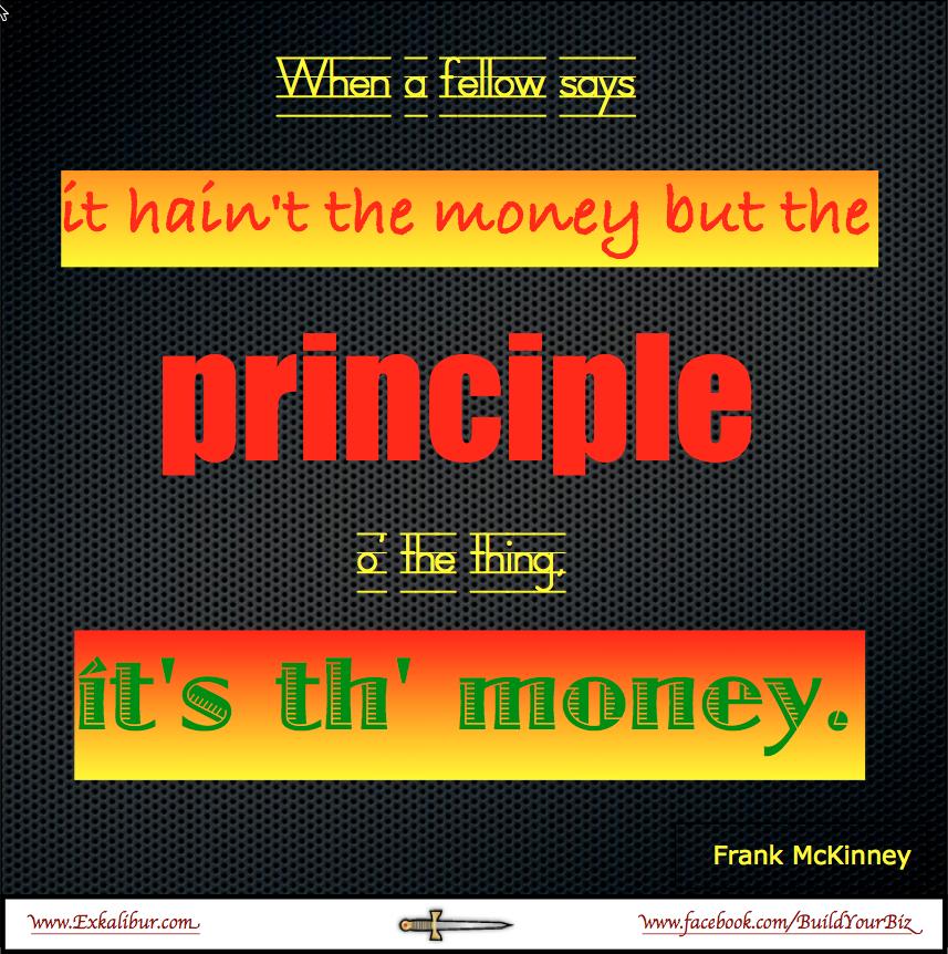 It's the money