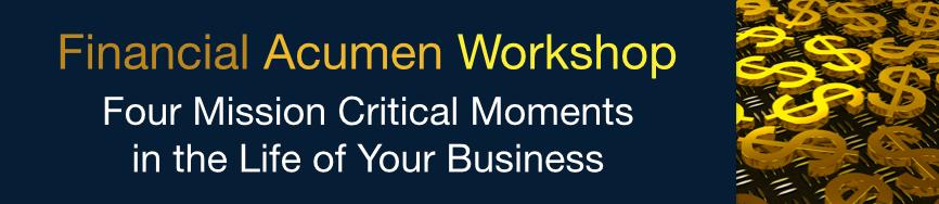 Financial Acumen Workshop