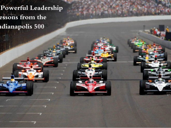 Indy 500 Starting Line with caption