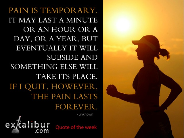 Mon quote pain is temporary for blog