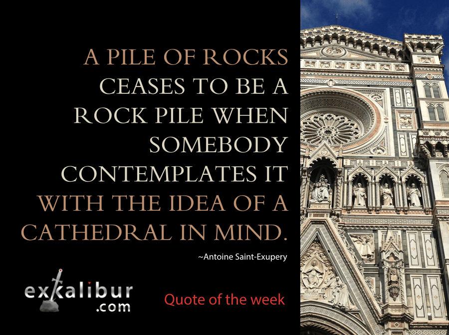 Mon quote rock pile cathedral