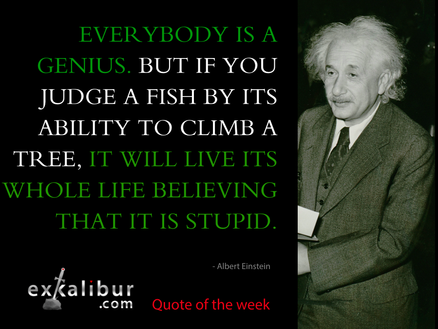 mon quote everybody is a genius