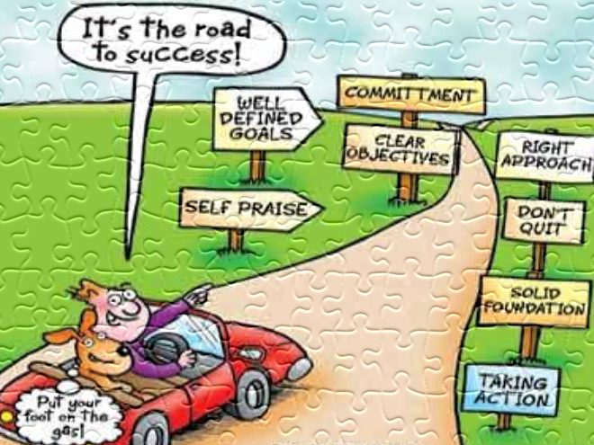 The-Road-to-success cartoon_
