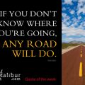 If you don't know where you're going, any road will do. ~Socrates