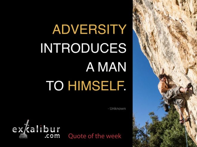 Adversity introduces a man to himself.