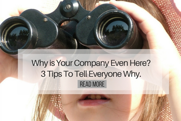 Why is Your Company Even Here - 3 Tips To Tell Everyone Why
