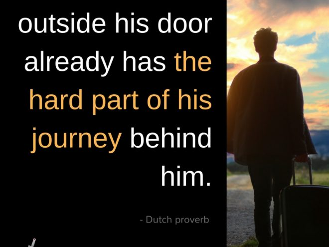 He who is outside his door...