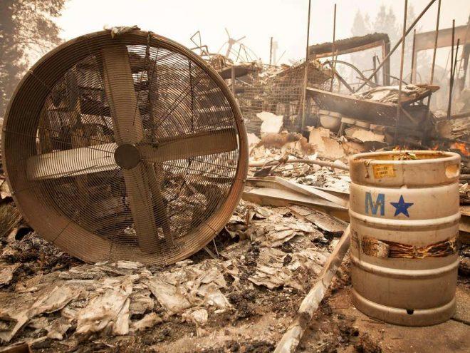 Napa Valley fire destruction