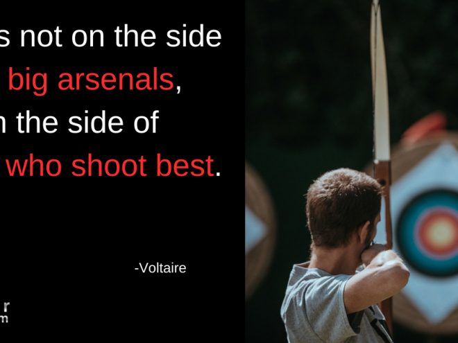 Mon Quote god not big arsenals but side who shoot best