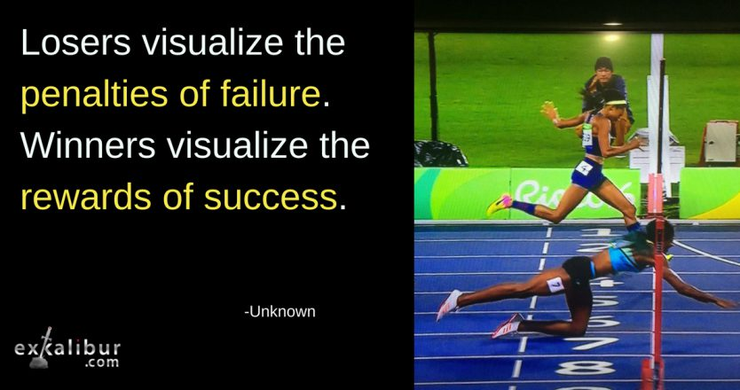 Mon Quote losers visualize failure
