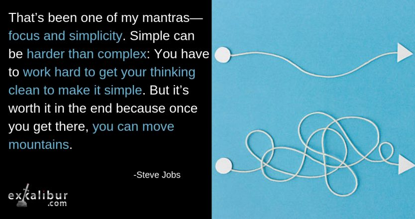 Mon Quote Focus and Simplicity