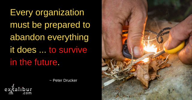Every organization must be prepared to abandon everything it does to survive in the future.