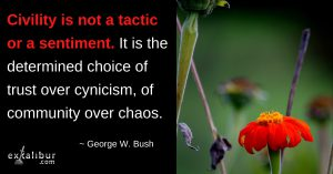 Civility is not a tacic or sentiment