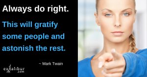 Always Do Right by Mark Twain